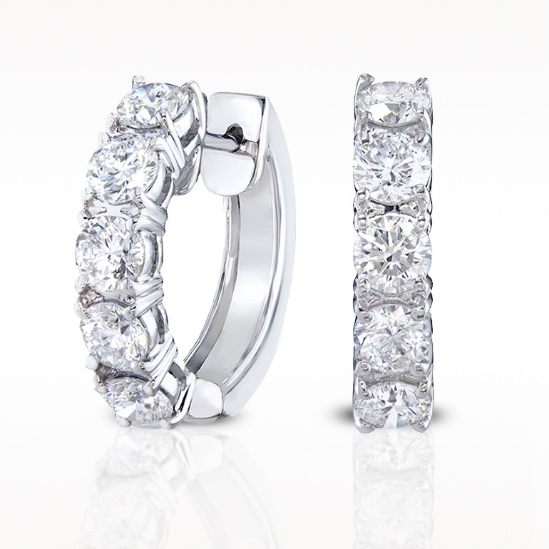 Total earrings diamond circles earrings10d for Lindenwold fine jewelers jewelry showroom price