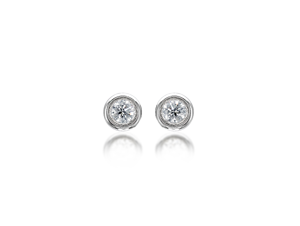 wrapped gold in white p earrings love diamond