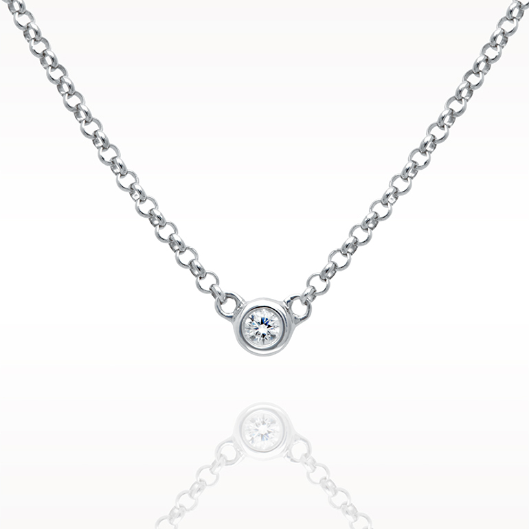 A 0.05ct, Necklace, Love Diamonds Necklace 1d, Love Diamonds. You can buy online or reserve online and view in store at Lunn