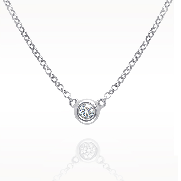 A 0.12ct, Necklace, Love Diamonds Necklace 1d, Love Diamonds. You can buy online or reserve online and view in store at Lunn