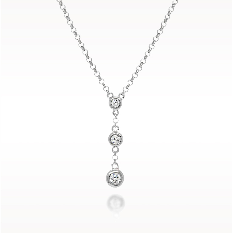 A 0.16ct total, Necklace, Love Diamonds Drop 3dias, Love Diamonds. You can buy online or reserve online and view in store at Lunn