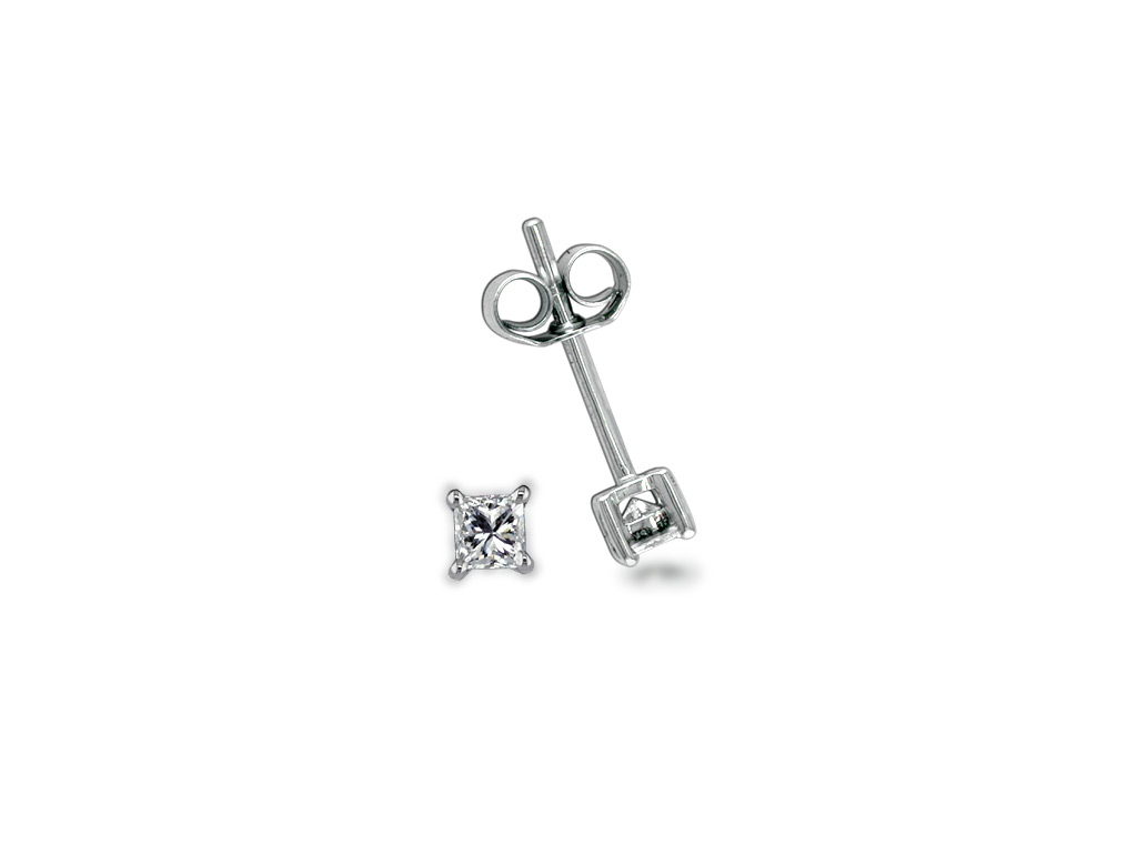 A 0.20ct total, Earrings, Solitaire Earrings 1280050059, Solitaires. You can buy online or reserve online and view in store at Lunn
