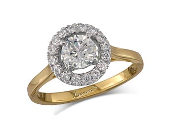 A 0.71ct centre, Brilliant, H, Cluster & coloured diamond ring. You can buy online or reserve online and view in store at Lunns, Queens Arcade, Belfast