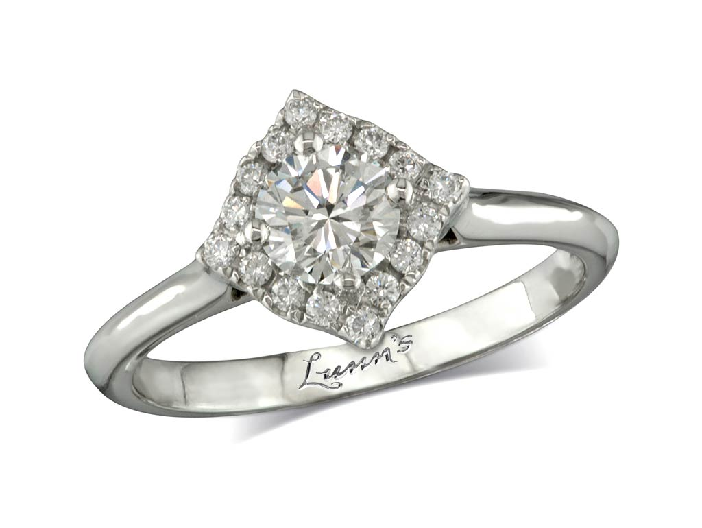 Centre brilliant e cluster diamond ring for Lindenwold fine jewelers jewelry showroom price