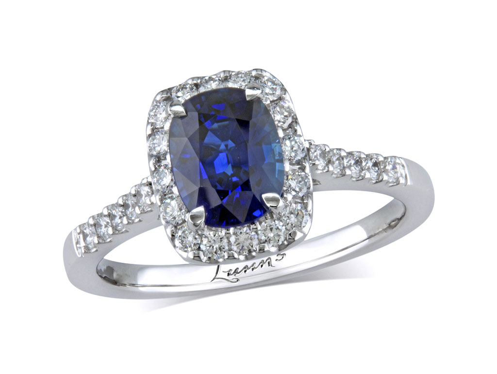 A 1.11ct centre, Cushion, Sapphire, Exceptional Colour Sapphire Collectio. You can buy online or reserve online and view in store at , Victoria Square, Belfast