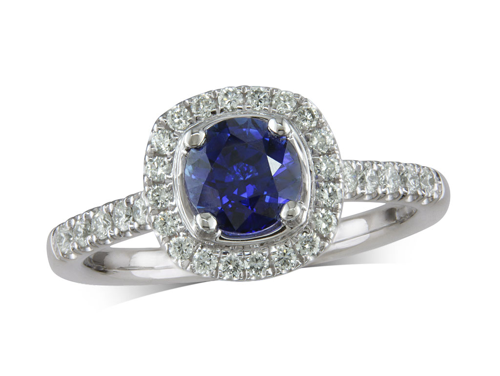 A 1.05ct centre, Brilliant, Sapphire, Sapphire & Diamond Ring. You can buy online or reserve online and view in store at , Victoria Square, Belfast