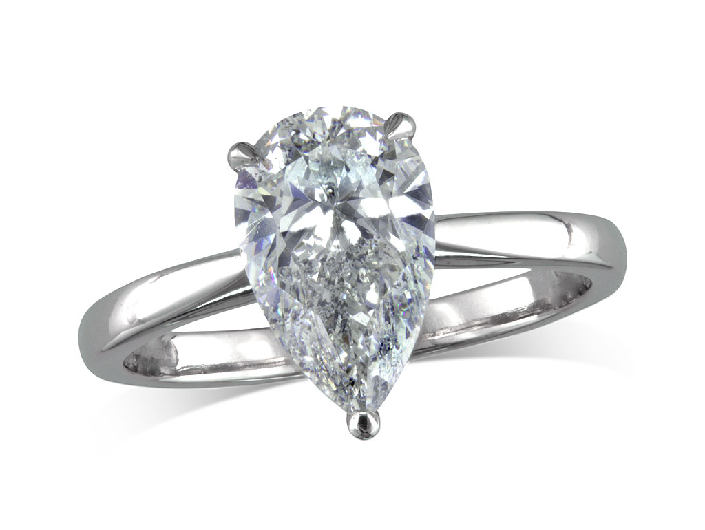 Pear g single stone diamond ring queens for Lindenwold fine jewelers jewelry showroom price