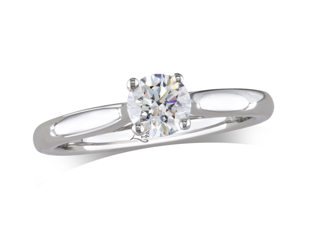 A 0.40ct, Brilliant, F, Single stone diamond ring. You can buy online or reserve online and view in store at , Londonderry