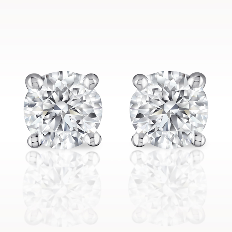 Total earrings solitaire earrings 1280030123 for Lindenwold fine jewelers jewelry showroom price