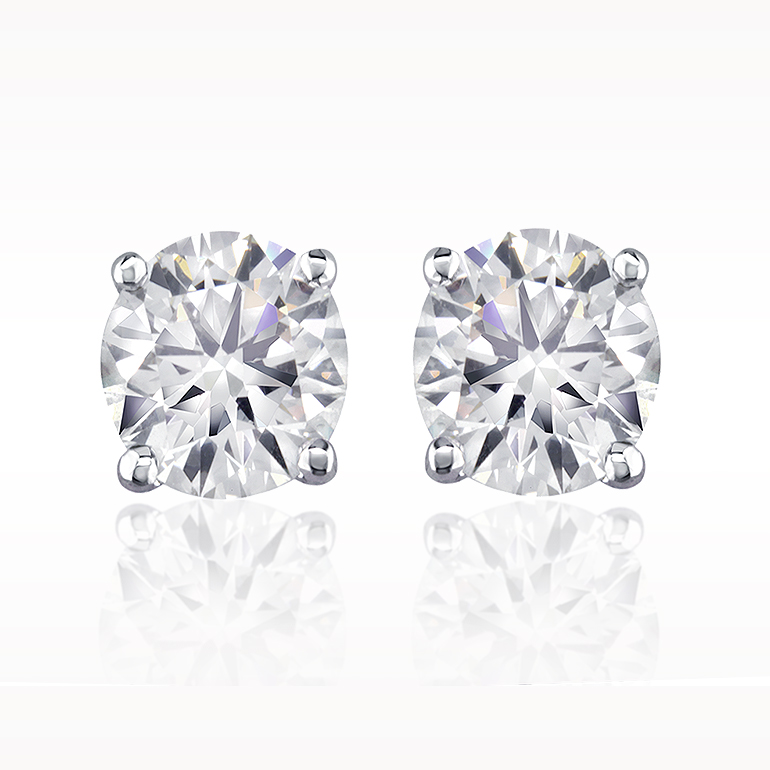 Total earrings solitaire earrings 1280030129 for Lindenwold fine jewelers jewelry showroom price