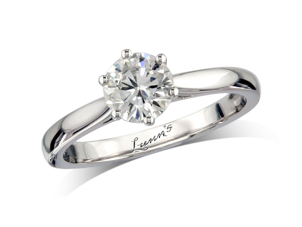 Centre brilliant e single stone diamond ring for Lindenwold fine jewelers jewelry showroom price