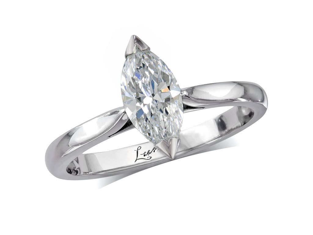 A 0.81ct, Marquise, E, Single stone diamond ring. You can buy online or reserve online and view in store at , Victoria Square, Belfast