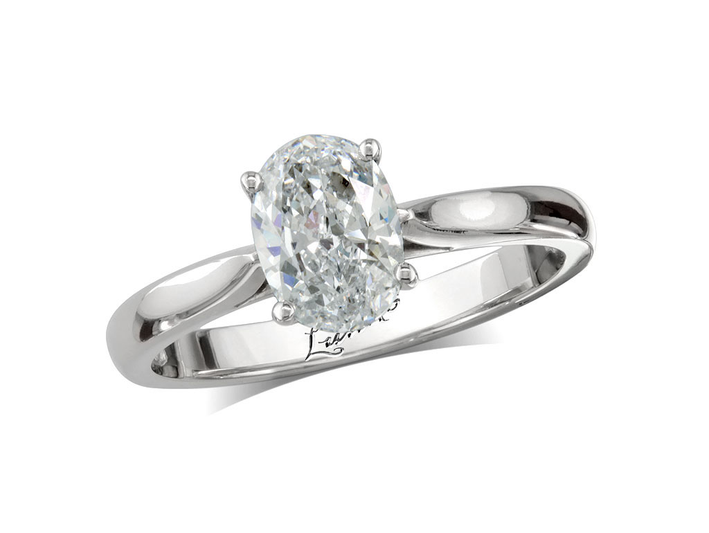 Oval g single stone diamond ring victoria for Lindenwold fine jewelers jewelry showroom price