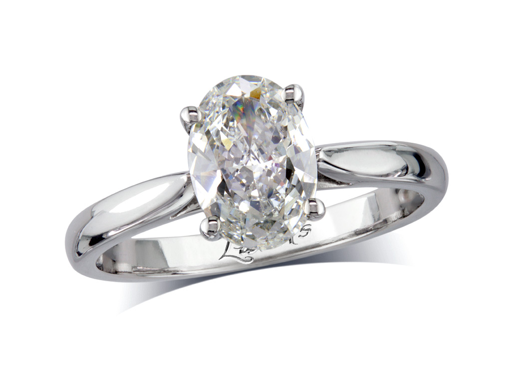 Oval d single stone diamond ring queens for Lindenwold fine jewelers jewelry showroom price