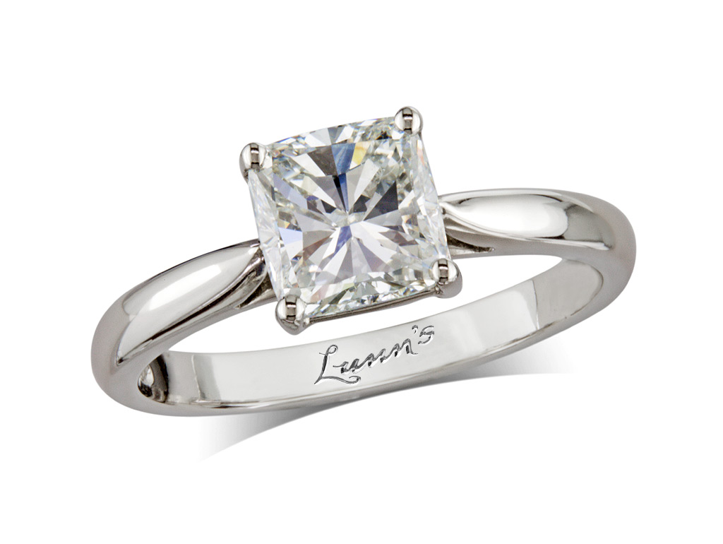 Princess i single stone diamond ring queens for Lindenwold fine jewelers jewelry showroom price