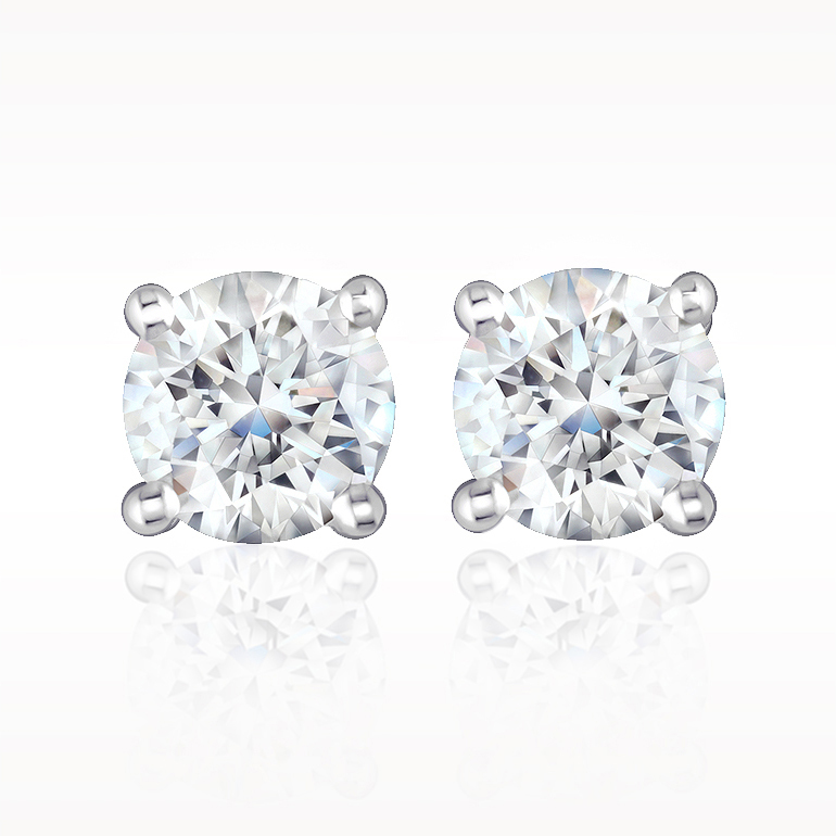 A 0.25ct total, Earrings, Solitaire Earrings 1200010006, Solitaires. You can buy online or reserve online and view in store at Lunn