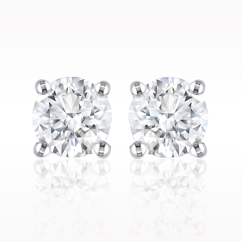 A 0.30ct total, Earrings, Solitaire Earrings 1200010007, Solitaires. You can buy online or reserve online and view in store at Lunn