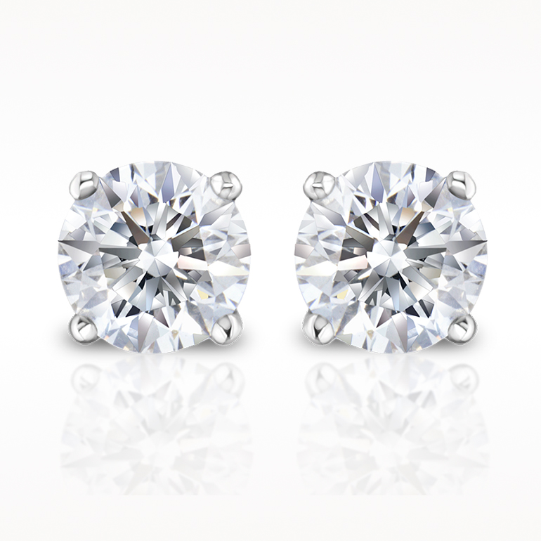 A 0.50ct total, Earrings, Solitaire Earrings 1280040170, Solitaires. You can buy online or reserve online and view in store at Lunn