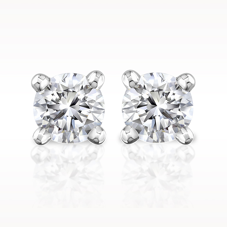 Total earrings solitaire earrings 1280050068 for Lindenwold fine jewelers jewelry showroom price