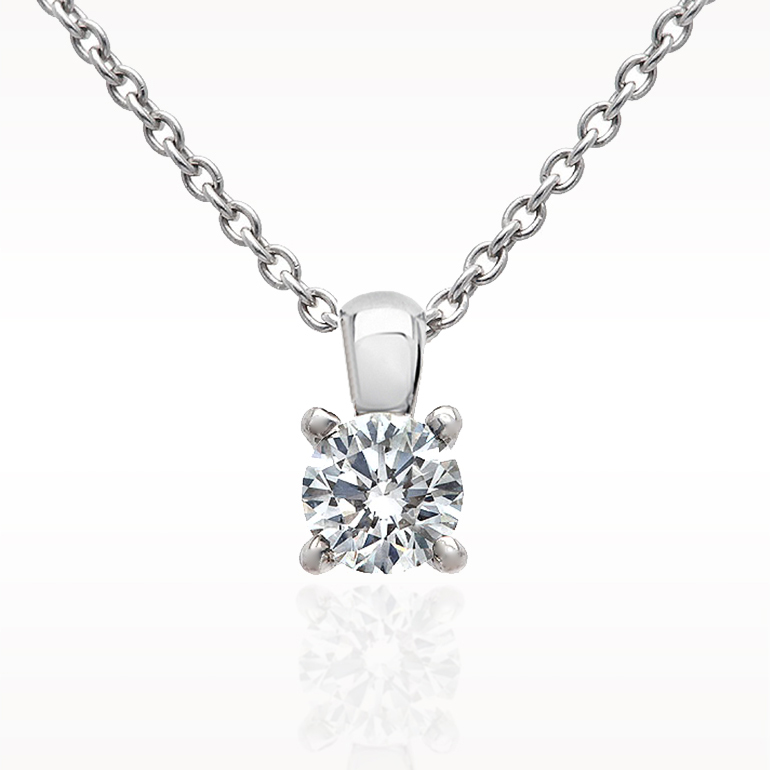 Necklace solitaire necklace 1290010061 for Lindenwold fine jewelers jewelry showroom price