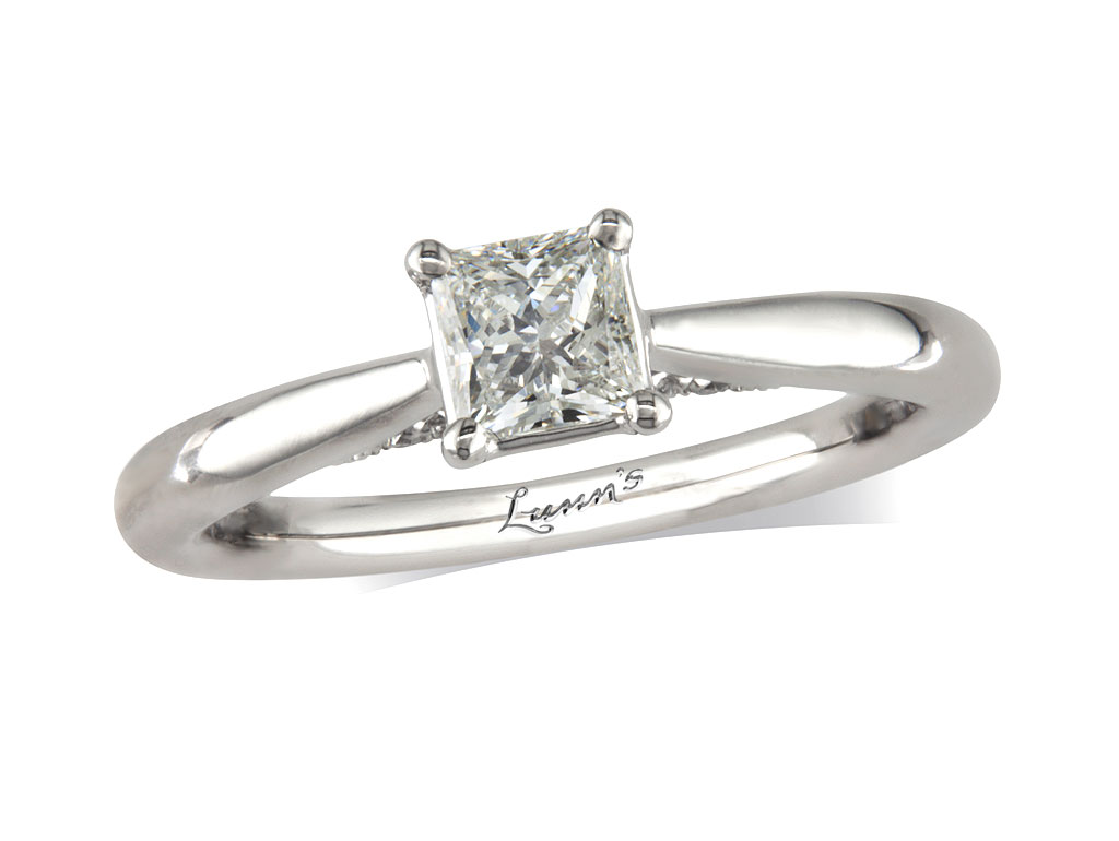 A 0.51ct, Princess, H, Single stone diamond ring. You can buy online or reserve online and view in store at , Londonderry