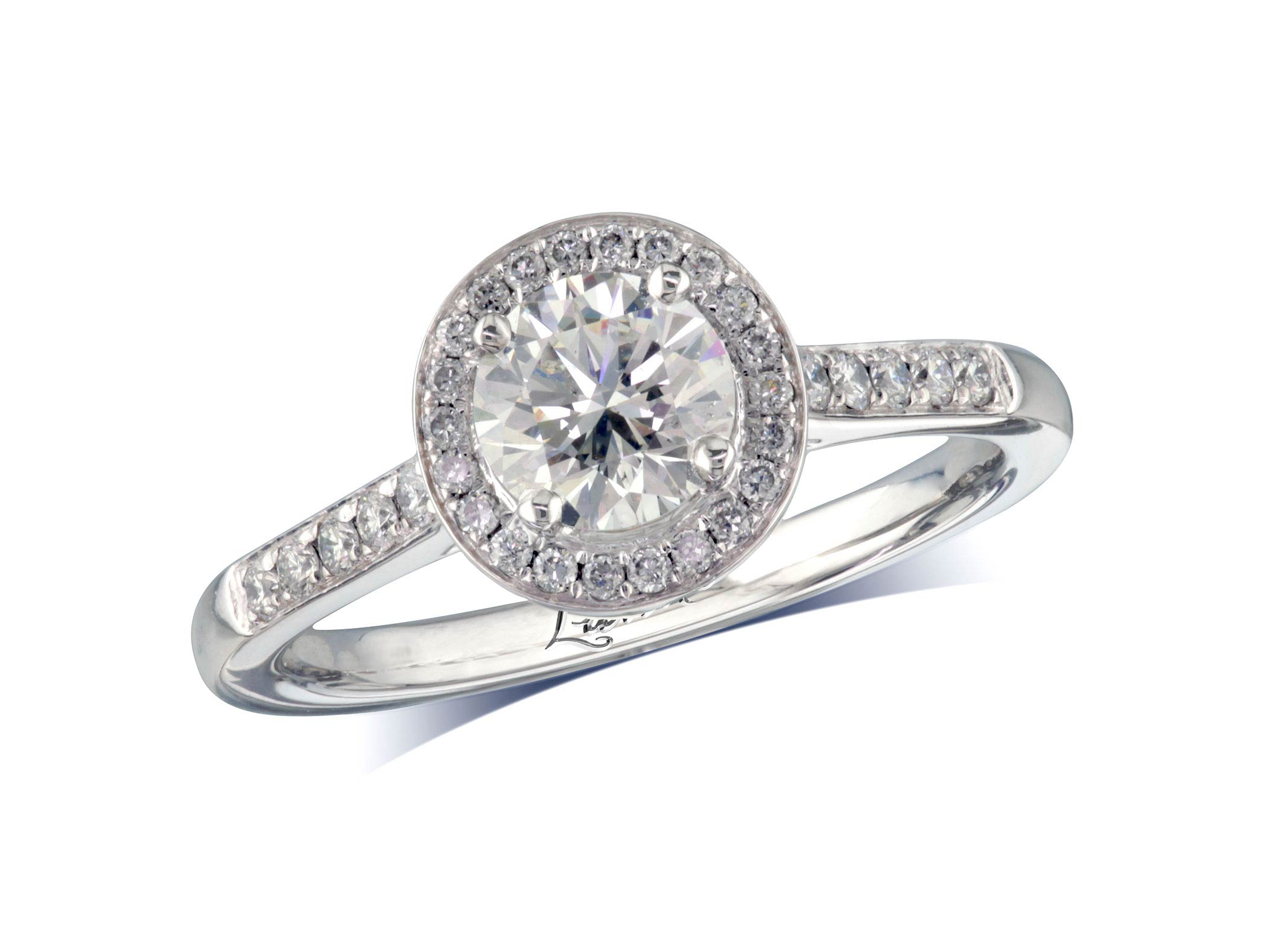 Centre brilliant h cluster diamond ring for Lindenwold fine jewelers jewelry showroom price