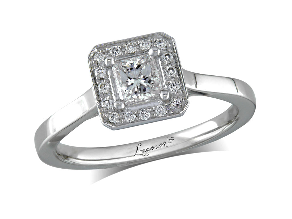 33ct centre, Princess, F, Cluster  coloured diamond ring. You can ...