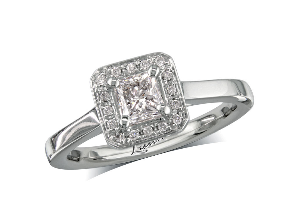 59ct centre, Princess, G, Cluster  coloured diamond ring. You can ...