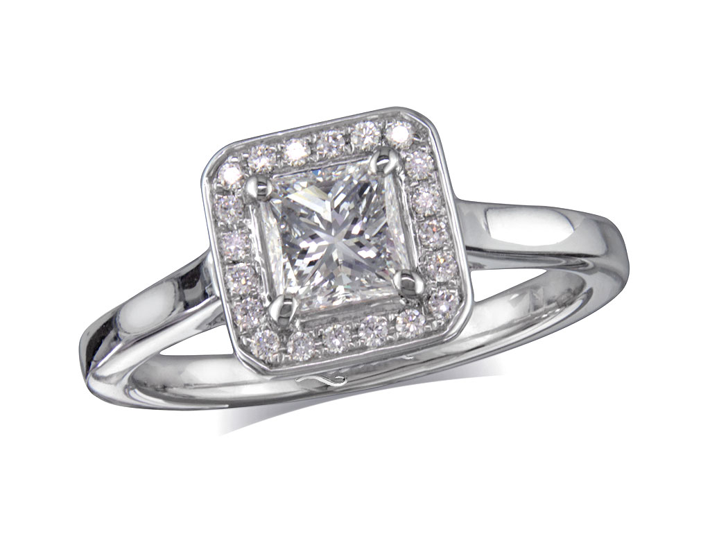 70ct centre, Princess, D, Cluster  coloured diamond ring. You can ...
