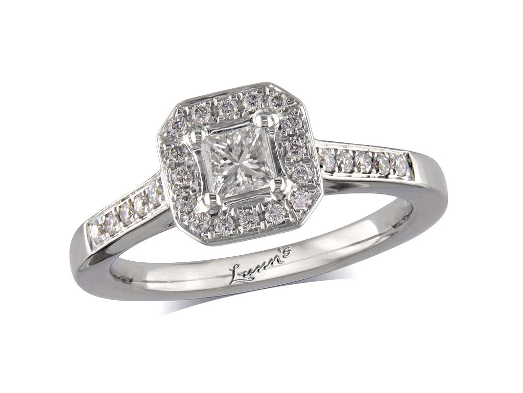 26ct centre, Princess, G, Cluster  coloured diamond ring. You can ...