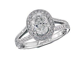 Centre oval h cluster diamond ring victoria for Lindenwold fine jewelers jewelry showroom price