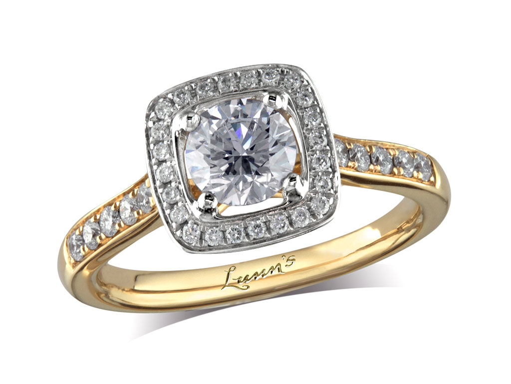 0 71ct centre Brilliant F Cluster diamond ring