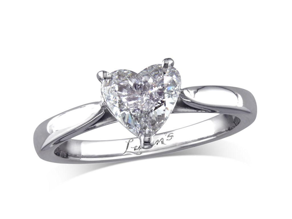 Heart d single stone diamond ring victoria for Lindenwold fine jewelers jewelry showroom price