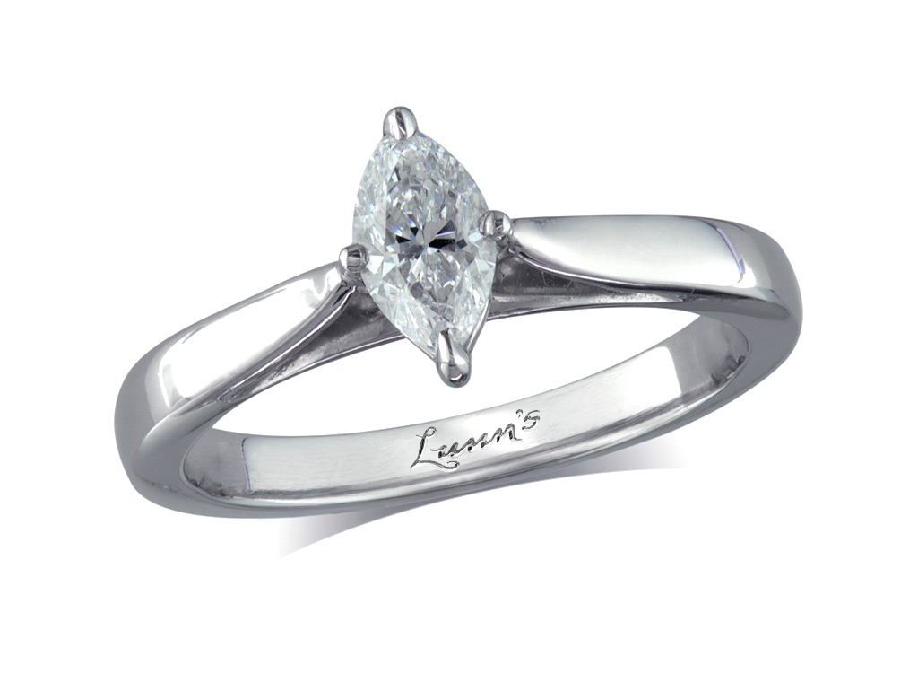 0.47ct | Marquise | F | Single stone diamond ring | Victoria ...