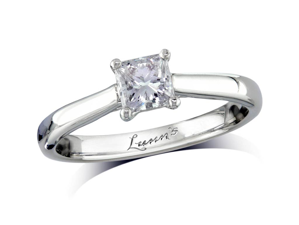 A 0.51ct, Princess, E, Single stone diamond ring. You can buy online or reserve online and view in store at , Londonderry