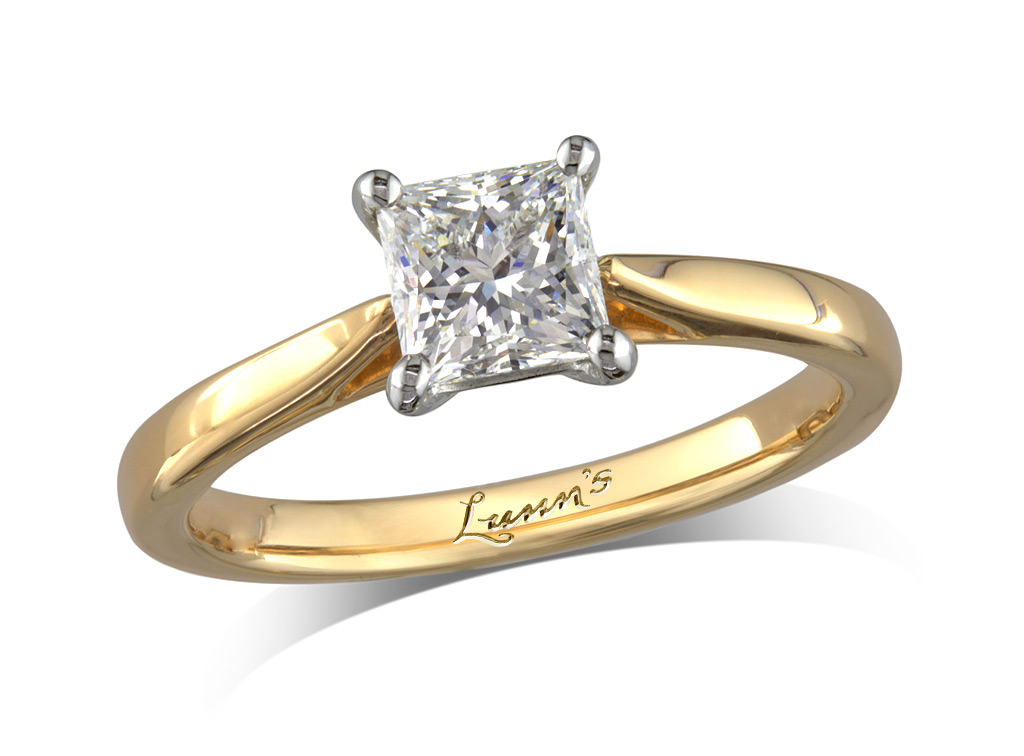 Princess g single stone diamond ring queens for Lindenwold fine jewelers jewelry showroom price