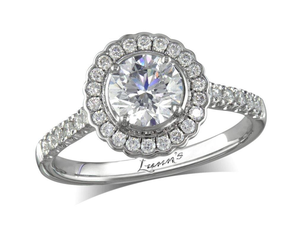 Centre brilliant f cluster diamond ring for Lindenwold fine jewelers jewelry showroom price