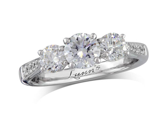 three stone diamond rings at lunns portfolio of fine diamonds - Wedding Ring Diamond