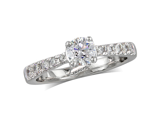 diamond shoulder rings at Lunns Portfolio Of Fine Diamonds