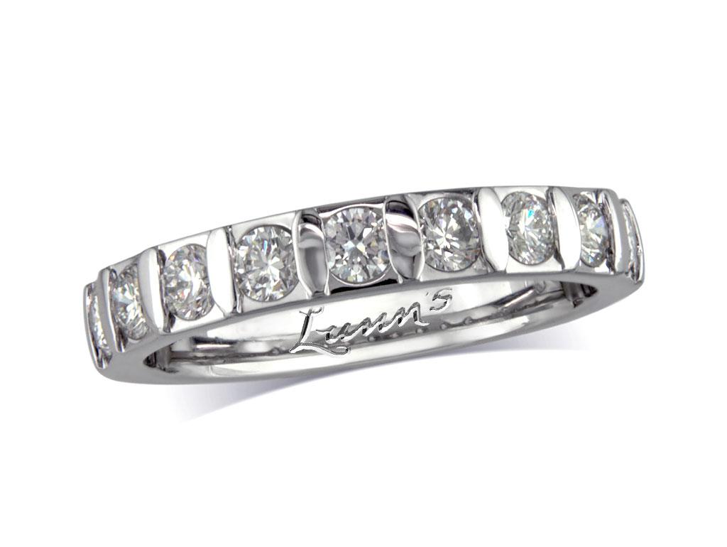 Diamond set wedding eternity ring victoria for Lindenwold fine jewelers jewelry showroom price
