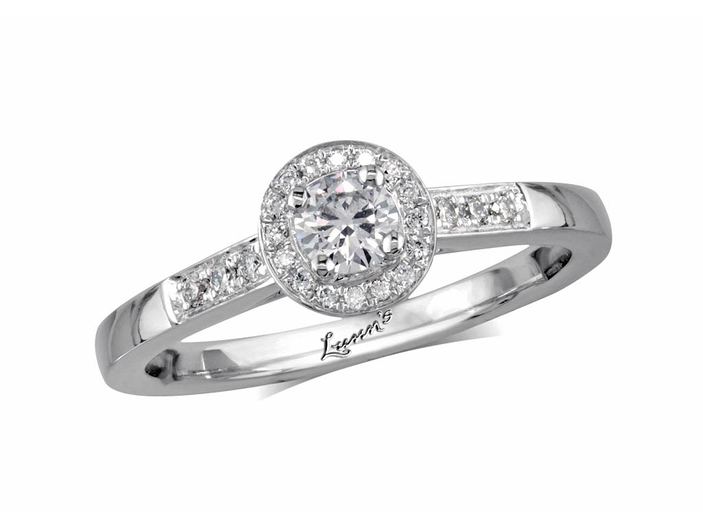 A 0.20ct centre, Brilliant, F, Cluster diamond ring. You can buy online or reserve online and view in store at , Londonderry