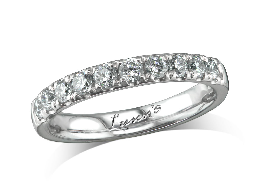 Diamond set n a wedding eternity ring londonderry for Lindenwold fine jewelers jewelry showroom price