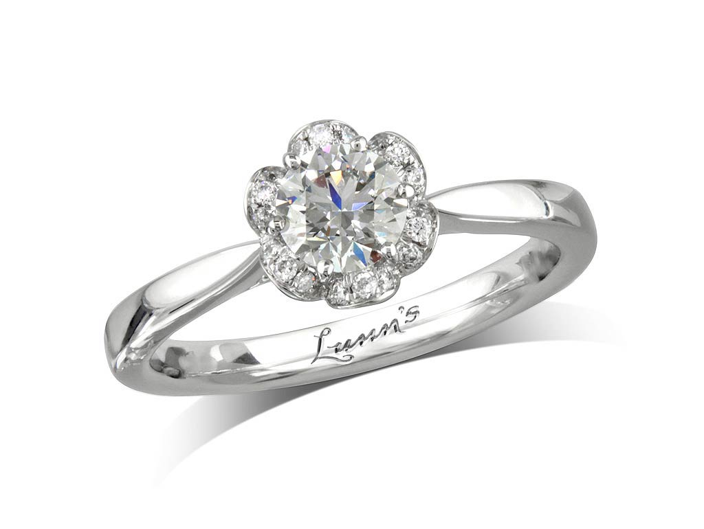 cluster engagement ring  Engagement Ring