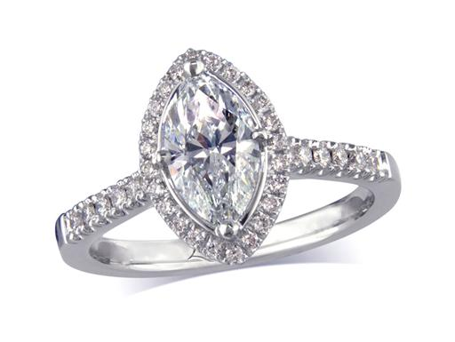 0 99ct centre Marquise Natural Light Pink