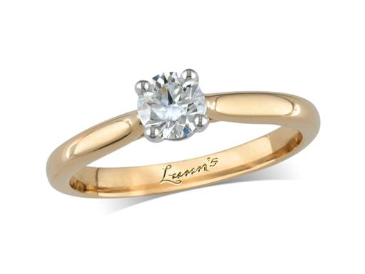 Portfolio Classic Collection 18ct yellow gold single stone diamond engagement ring, with a certificated brilliant cut, in a four claw setting. Perfect fit with a wedding ring.