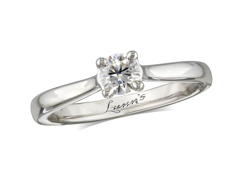 A 0.38ct, Brilliant, H, Single stone diamond ring. You can buy online or reserve online and view in store at , Londonderry